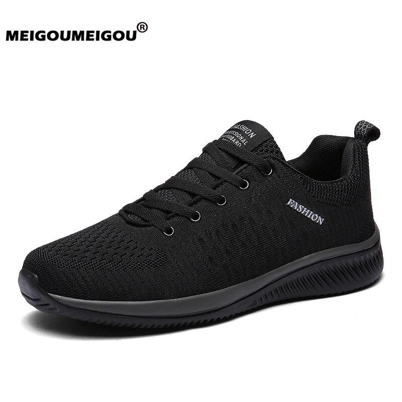 Novo homem sapatos casuais tênis ultraleve respirável tênis de corrida sapatos casuais para homem plus size 48 zapatillas hombre
