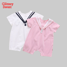 Baby Romper New Born Clothes Summer Solid Short Sleeve Boy&Girl Clothing Set Roupa Bebes Baby Clothes Infantil Jumpsuit