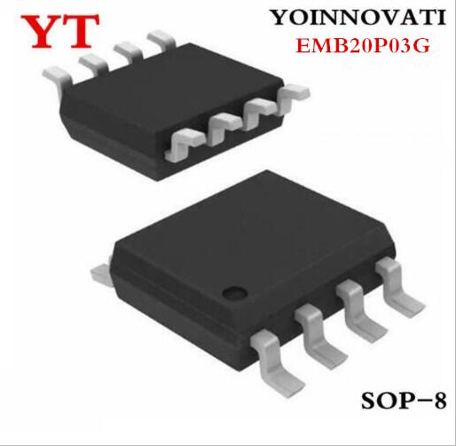 20pcs/lot EMB20P03G EMB20P03 <font><b>B20P03</b></font> MOSFET SOP-8 IC Best quality. image