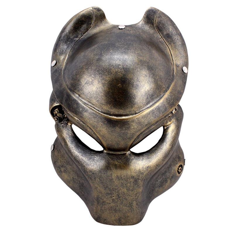 Masque en résine adulte effrayant prédateur film masque visage complet Cosplay Halloween mascarade fête Collection déguisement Costume