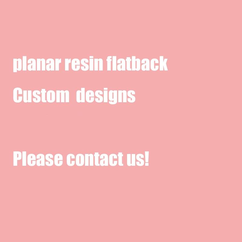 Custom Printed resin planar resin flatback for DIY Crafts Flat Back Resins 200pcs
