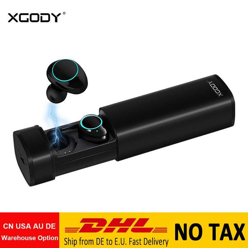 Original XGODY X9 TWS Mini Wireless Earphones Bluetooth 5 0 Headset with Mic Handsfree for iPhone