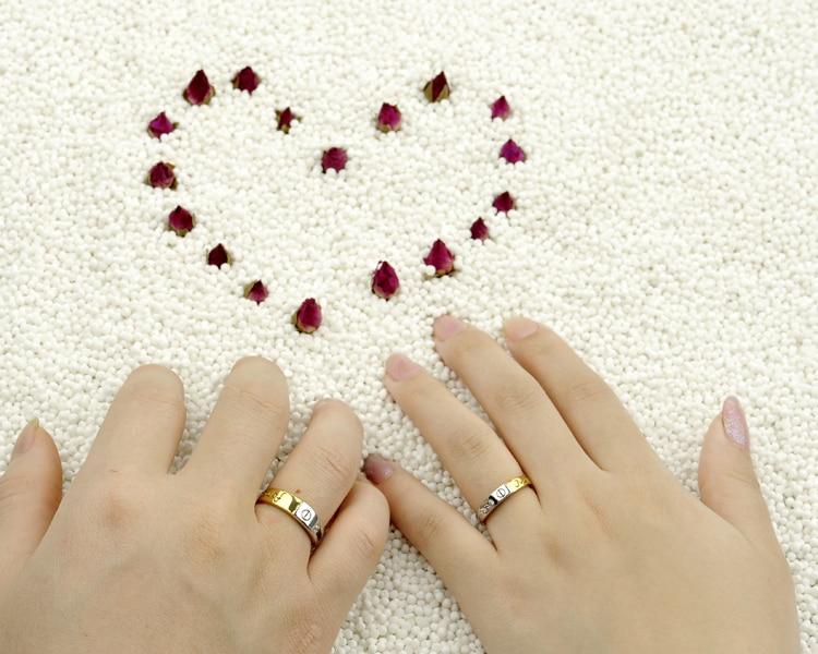 Cz Diamond Wedding Lover Ring For Men Women Forever Love Couple