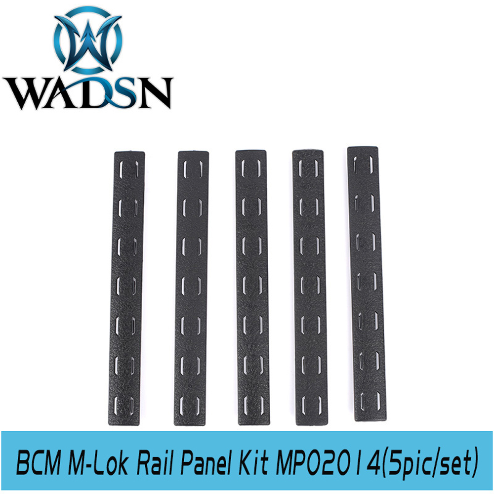 Image 3 - WADSN Airsoft BCM M Lok Panel Kit (5 pcs) Tactical Softair Polymer Rail Set Protector MP02014 Weapon Light Accessories-in Weapon Lights from Sports & Entertainment