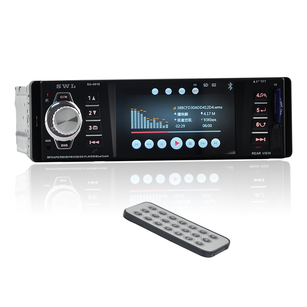 12V Car Radio MP5 Player 1Din 4 1 TFT HD Digital Stereo FM Radios Video USB