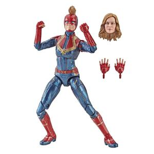 Image 4 - Marvel Avengers Endgame Legends Series Captain Marvel Head Can Be Changed PVC Action Figure Collectible Model Dolls Toy For Kids