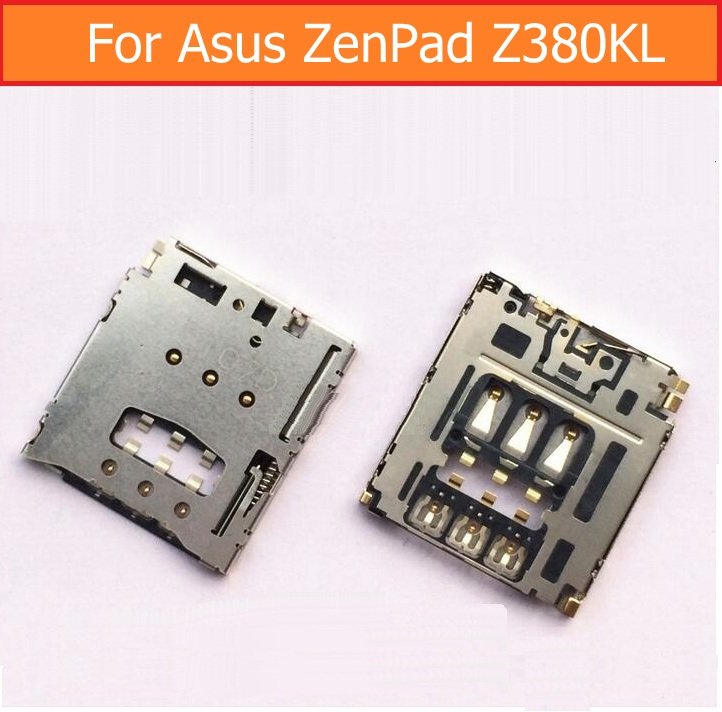 Genuine Sim Card Socket for Asus ZenPad Z380KL 8.0 Sim Card Slot Tray For Asus Z380 SIM Holder Sim Reader connector replacement brand new replacement card slot card socket for ndsl nintendo ds lite free shipping