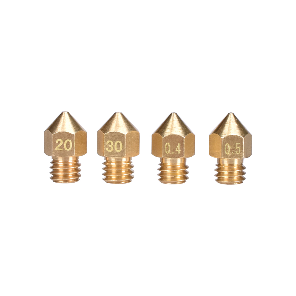 1/5PCS MK8 Nozzle Brass Thread M6 0.2MM/0.3MM/0.4MM/0.5MM For MK8 Extruder Hotend 1.75MM Filament Like MK7 For 3D Printer Parts
