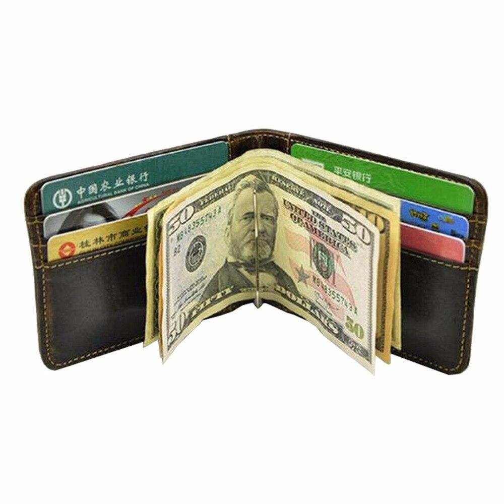 dinheiro de couro genuíno deslizamento Size BY Cm : 8.5*10.5*0.5cm