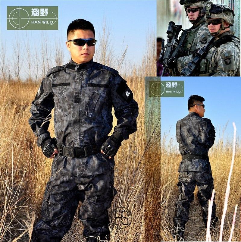 12 couleurs! chemise tactique militaire + pantalon uniformes Multicam uniforme de Camouflage uniforme militaire de l'armée