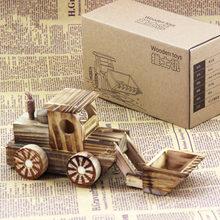 2017 핫 크리 에이 티브 나무 장난감 시뮬레이션 불도저 모델 나무 자동차 모델 공예 선물 교육 완구 어린이 MZ193