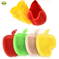 Silicone Cleaning Gloves Heat Insulated Finger Gloves Multi Purpose Food Grade Silicone Dishwashing Tools Kitchen Cleaning