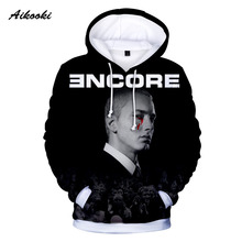 Aikooki invierno moda Hoodies hombres mujeres sudadera Eminem 3D impreso hoodie  Hip Hop street wear 4c3830006b8
