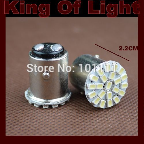10x car led s25 p21/5w bay15d 1157 22 led smd 22smd brake stop light bulb lamp white Red Free shipping