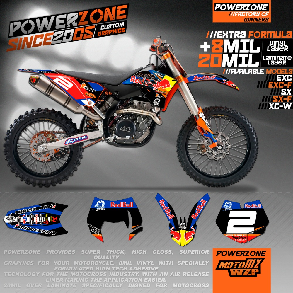 Online Get Cheap Custom Graphics Decals Ktm Aliexpresscom - Red bull motorcycle custom stickers