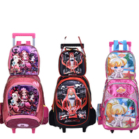 New Children Kids School Bags With Wheel Trolley Luggage Set Backpack Mochila Infantil Bolsas For Boys