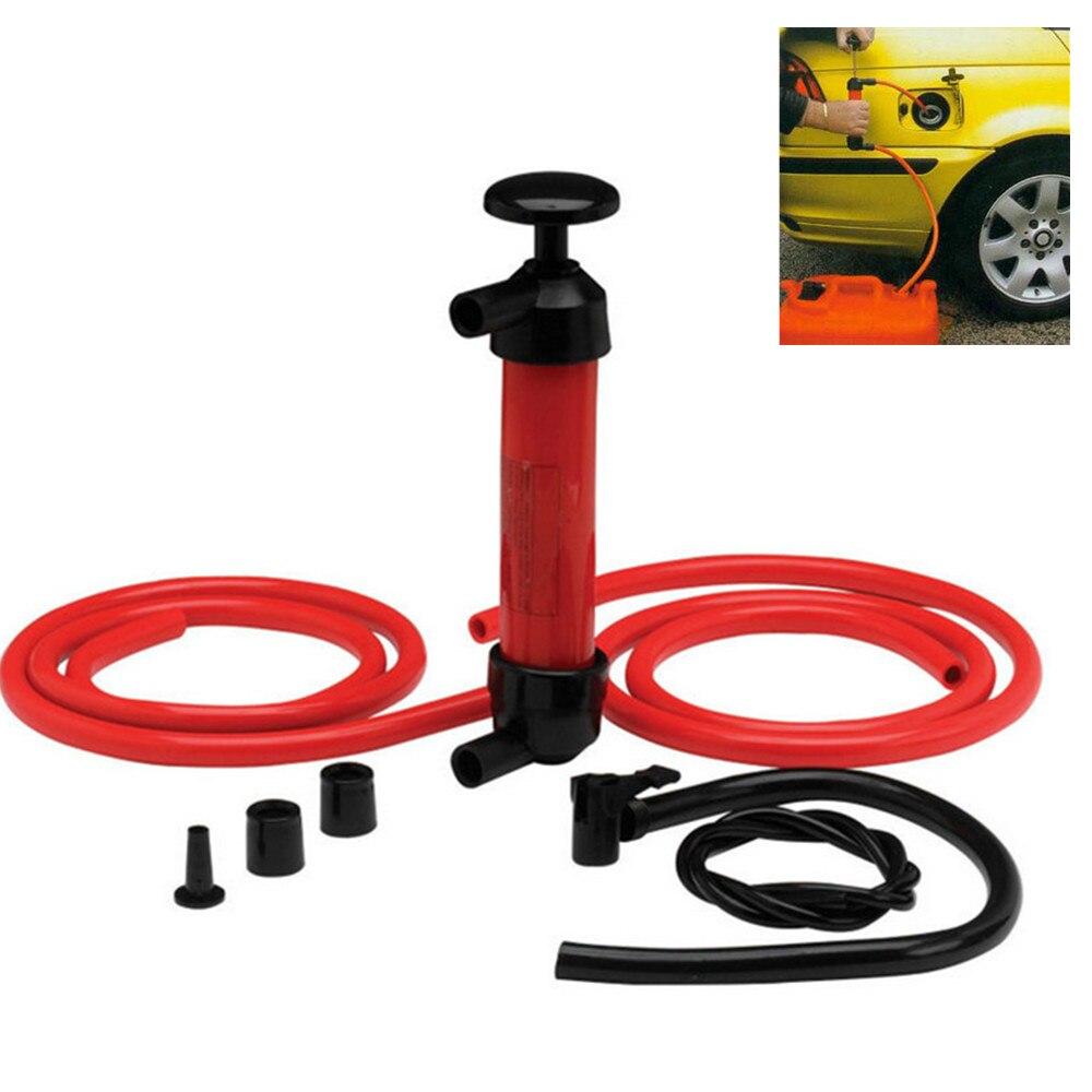 Portable Hand Oil Pump 200cc 5 L/min Car Tire Water Oil Fuel Change Transfer Gas Liquid Pipe Siphon Tool Air Pump Kit ZK218