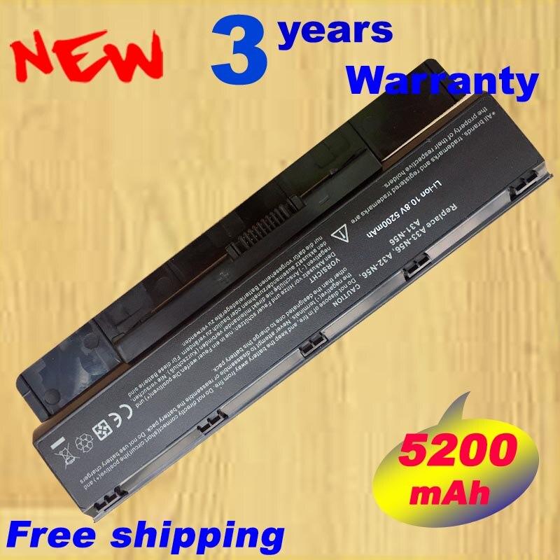 Batería del ordenador portátil A31-N56 A32-N56 A33-N56 para Asus N56 N56D N56D N56DY N56J N56JK N56VM N56VV N56VZ N56JN N56JR N56V N56VB n56VJ