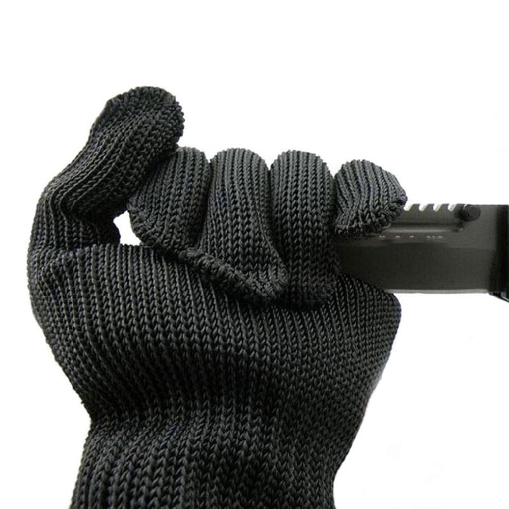 72f97f2a05346 1 paire Anti de coupe respirant acier inoxydable gants en fil Gants De  Travail Noir Métal Maille Viande Gant Anti cut niveau 5 dans Gants de  sécurité de ...