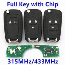 Дистанционного Ключа 315 МГц 433 МГц ID46 Чип для Chevrolet Malibu Cruze Aveo Искра Вольт Орландо Флип Автосигнализации Дистанционный ключ Entry Fob