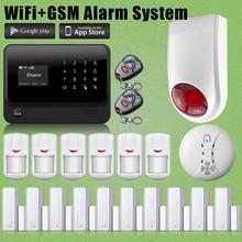 Etiger Wirelss G90B WiFi GSM Intruder System Outdoor Flash Siren For House Security