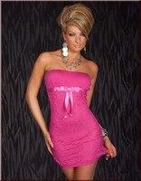 Naranja Rosa Vestido Del Club Atractivo Para Las Mujeres Arco Lindo Traje Precio Al Por Mayor de La Manera 3 Mujeres de Los Colores Sin Tirantes Mini Vestido W3112