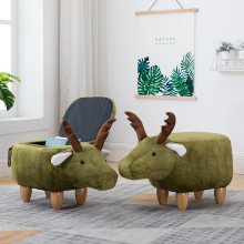 Nordic shoes bench solid wood deer animal storage sofa stool creative small