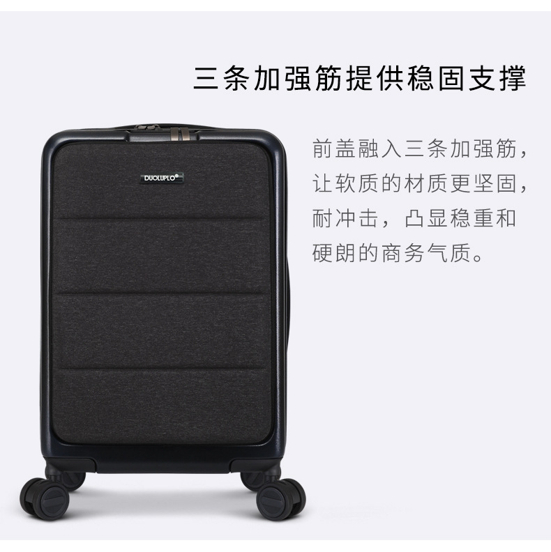 Casual Travel Trolley Luggage Aluminum Frame Alloy Business Rolling Luggage Airplane Suitcase Spinner Wheels 20inch (8)