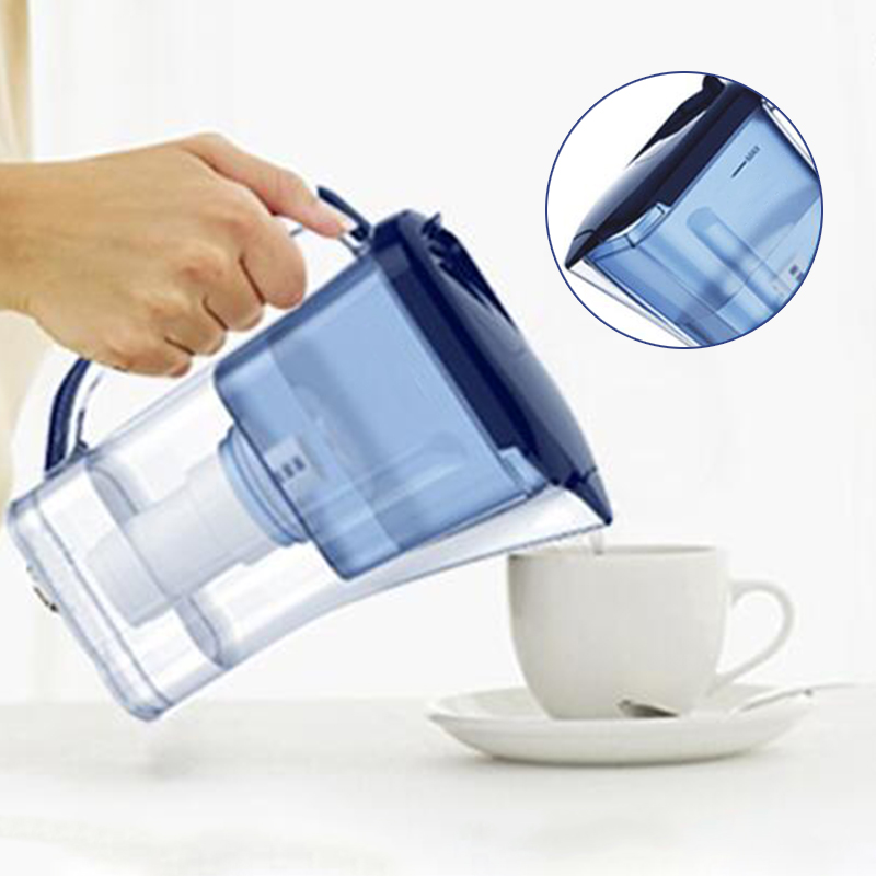 Slim Alka Water Jug Pitcher Blue Alkaline Antioxidant Home Portable Alkaline Ionizer Water Purifier