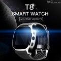2019 T8 Bluetooth Smart Uhr Mit Kamera Musik Player Facebook Whatsapp Sync SMS Smartwatch Unterstützung SIM TF Karte Für Android ETC-in Smart Watches aus Verbraucherelektronik bei