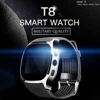 Reloj inteligente Bluetooth T8 2019 con cámara reproductor de música Facebook Whatsapp Sync SMS Smartwatch compatible con tarjeta SIM TF para Android, ETC.