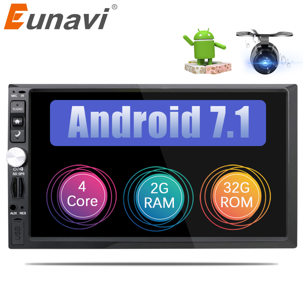 Eunavi Universal 2 din Android 7 1 font b Car b font font b Radio b