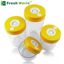Fresh World Food Grade Plastic Vacuum Container 4pcs (2200ml , 1600ml, 1000ml, 700ml)