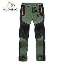 Nuoneko nowa wiosna jesień mężczyźni kobiety piesze wycieczki cienkie spodnie spodnie terenowe typu softshell wiatroszczelna dla Camping Trekking wspinaczka PN22