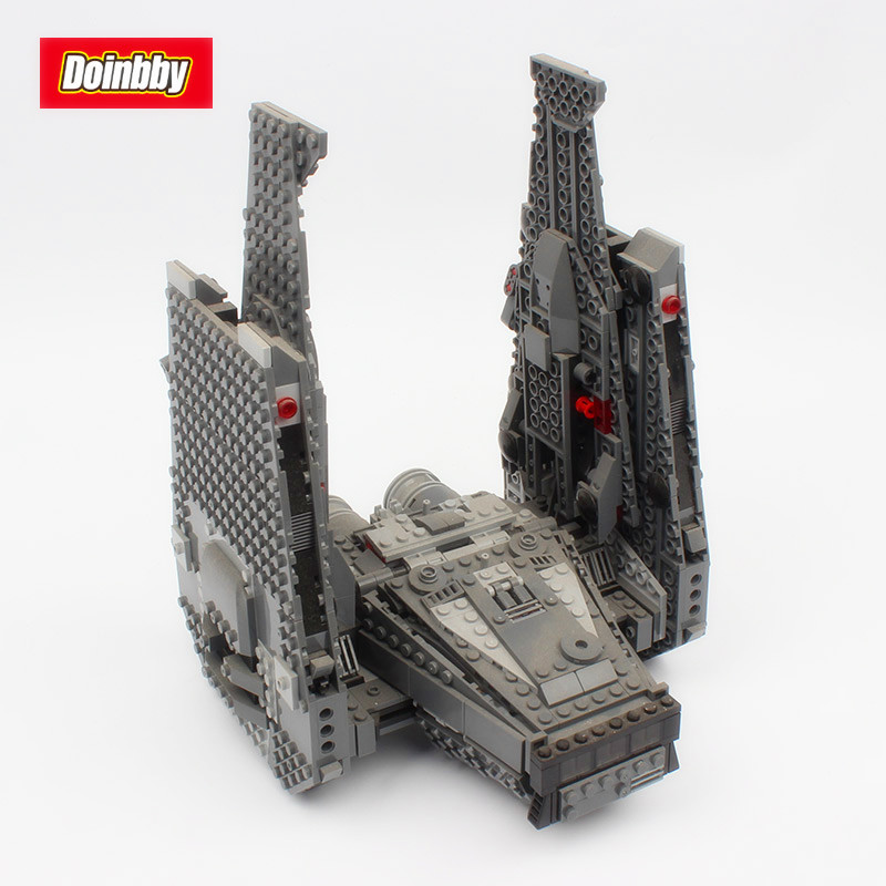 Lepin 05006 1053Pcs Star Series Space War Kylo Ren Command Shuttle Building Block Toys Model Gifts Compatible 75104 lepin 05006 star kylo ren command shuttle lepin building blocks educational toys compatible with 75104 lovely funny toys wars