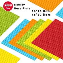 16 * 16 16 * 32 Pontos Placa de Base Para Pequenos Tijolos Placa de Base DIY Blocos de Construção Compatíveis com Legoing Brinquedos Para crianças