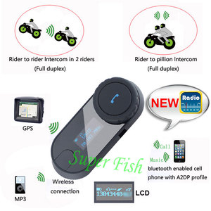 Image 4 - FreedConn TCOM SC Bluetooth motorfiets interphone headset helm intercom LCD scherm met FM radio + zacht oortje