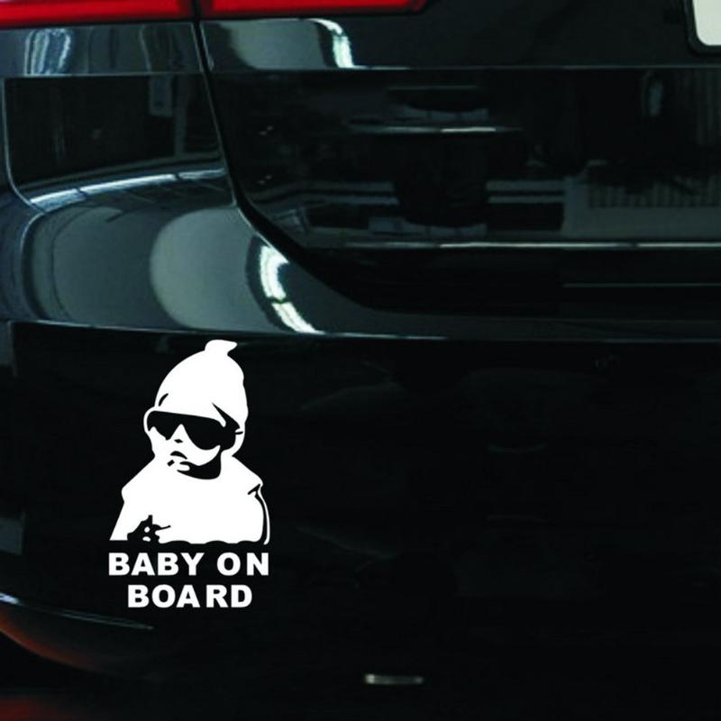Universal Car Reflective Waterproof Rear Door Reflective Car Sticker Baby on Board Stickers Car-styling