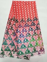 Milk Silk High Quality African Lace Guipure Cord Print Lace Fabric For women dress party 5yd