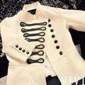 BMC11 леди Двойной грудью пальто Британской Моды женщин куртка/перл бисероплетение куртка/wholesale марка звезда куртка пальто/2 цвет 5 размер
