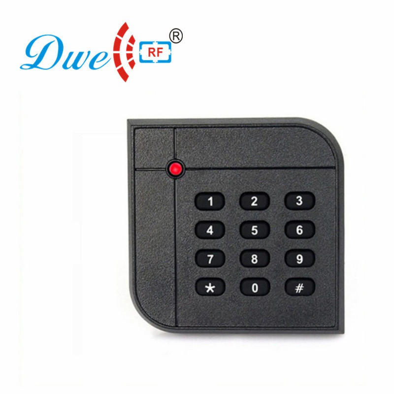 DWE CC RF 125khz RFID Proximity Waterproof Smart Card Reader Keypad Access Control For Door Access D602A original access control card reader without keypad smart card reader 125khz rfid card reader door access reader manufacture