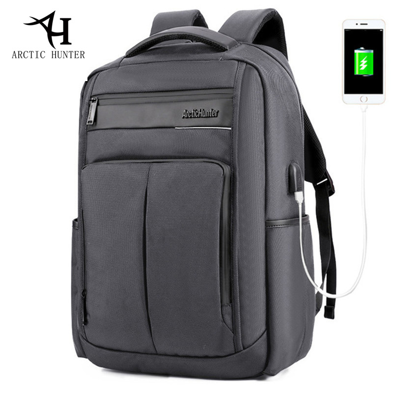 ARCTIC HUNTER USB charger backpack men and women waterproof Nylon&PU Backpacks Business Casual travel Backpack Bag все цены
