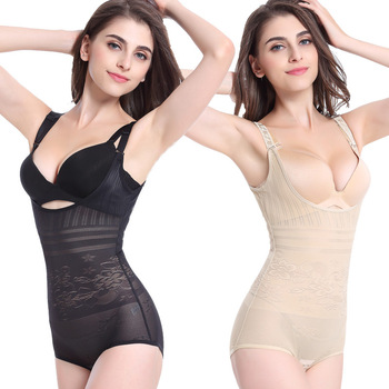 New Sexy Slimming High Waist Underwear Women Shapewear Briefs Thin Mid-lumbar Abdomen Hips Floral Lingerie Boxers Body Shapers