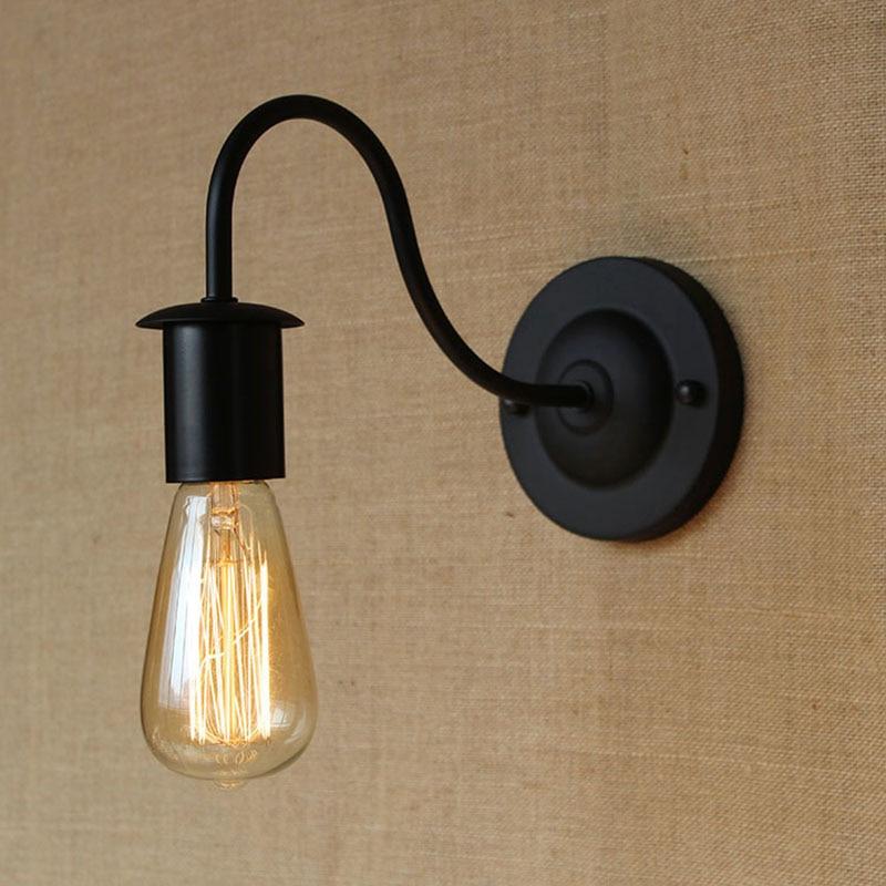 Edison art deco Vintage Loft Pasillo negro Lámpara de pared para balcón Entranceway baño Europa moderna contemporánea iluminación de la lámpara