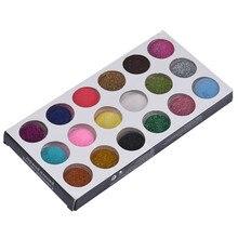 18 colors Carving Acrylic Powder Nail Art Crystal Nail Polymer Dust for liquid G6818