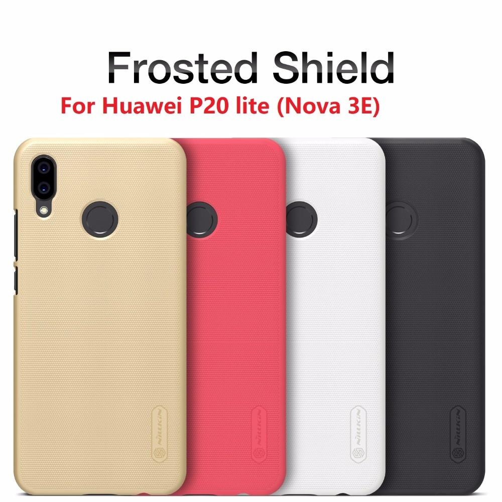 Pour Huawei P20 Lite (Nova 3E) cas D'origine NILLKIN Givré Bouclier Couverture Arrière Pour HUAWEI P20 Lite Cas avec Protecteur D'écran