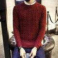2106 Outono Inverno Homens Camisola Ocasional O-pescoço Camisola de Malha Homem Slim Fit Pullover Puxar Homme Mens Blusas Plus Size XXXL