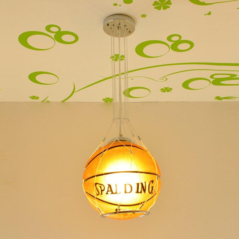 Filles garçons de basket-ball de football pendentif lampe enfants chambres pendentif lumières chambre étude chambres lampes et lanternes moderne lampe