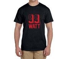 JJ WATT 99 logo 100% cotton t shirts Mens o-neck fashion T-shirts for HOUSTON fans 0216-4