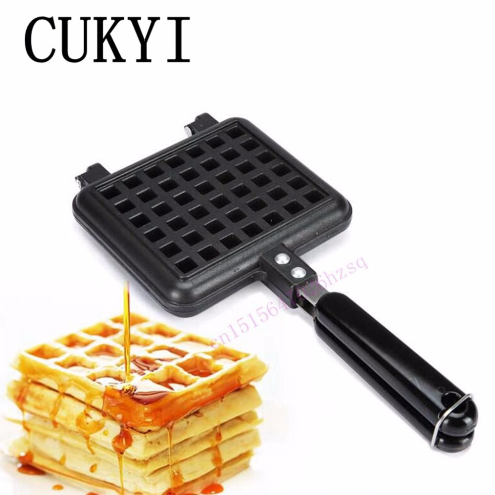 CUKYI Gas waffle  machine mold Household non-stick grid Baking cake mold DIY waffles mold plastic mold for household product case